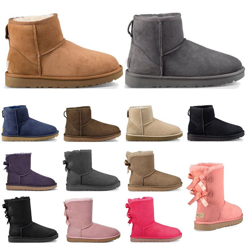 최고 품질 디자이너 신발 여성 클래식 스노우 부츠 겨울 검은 밤나무 패션 크기 36-41에 대 한 발목 짧은 활 모피 부츠