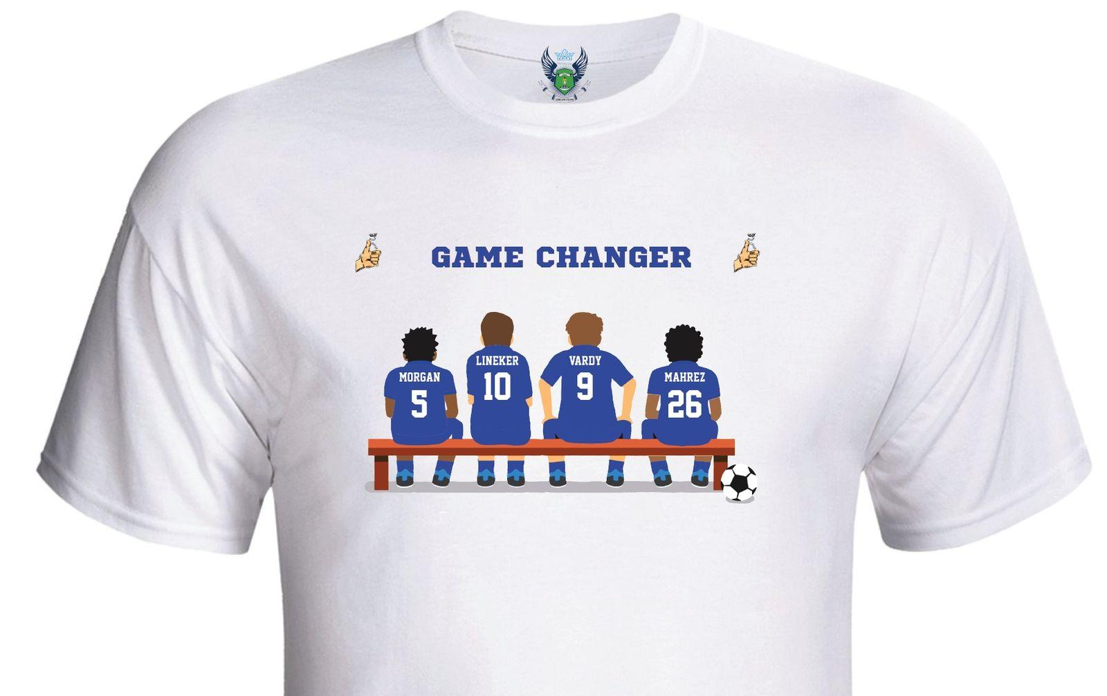2020 Fashion Personalised Footballs T-Shirt-Pick Your Own Game Changing Players - Teams M-S Tee Shirt