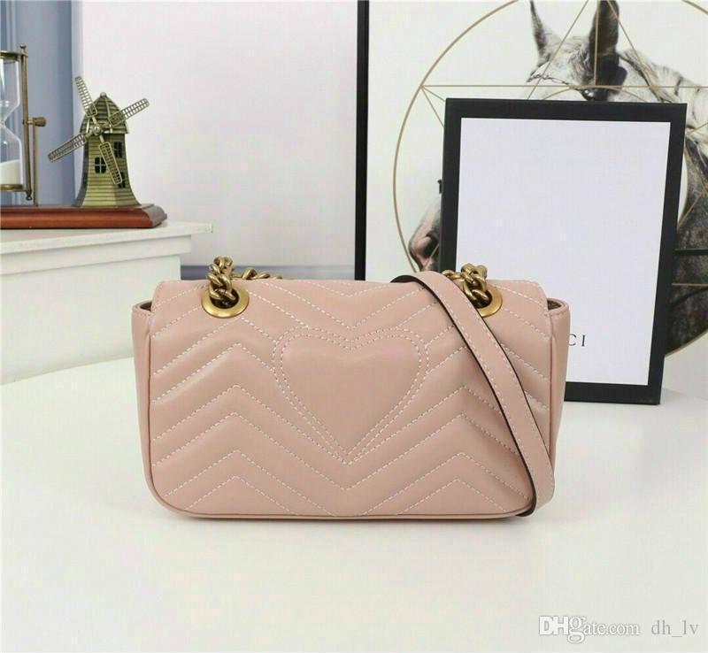 Luxus Marmont Tasche 443.497 Luxus-Handtaschen Designer-Handtaschen Ursprüngliche weiche Lammfell-echtes Leder-Frauen-Schulter-Mode Bee Taschen G58