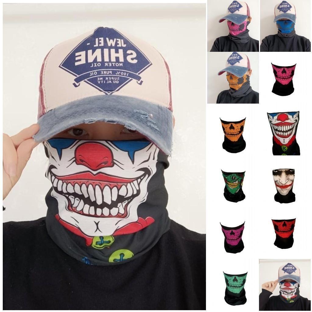 DHL navire Skull Joker Masques Designer bandanas Magic Mask Riding Tube Foulard cou visage Sport Bandeau magique Foulards Bandana GWF1835