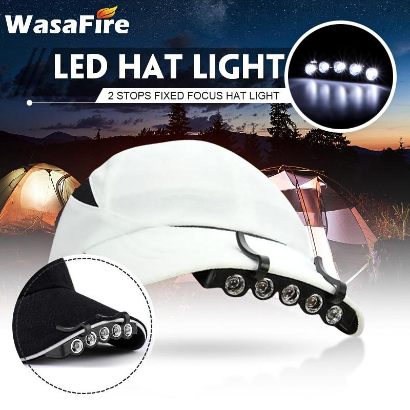 High Brightness 5 Led Mini Cap Light 2 Modes Waterproof Head Lamp Head Cap Hat Light Clip On For Outdoor Camping Fishing