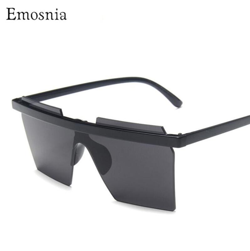 Estilo cuadrado Moda Pieza de playa Marco Gafas de sol 2020 Ladies One Unisex Emosnia Sol de gran tamaño Bigs In Insferencias Gafas Sombras Eyewear Oehqv