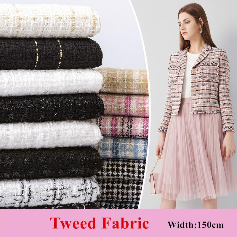 DIY Dikiş Coat Etek Elbise Kostüm Malzeme için 50x150cm Kostüm Tweed Kumaş Giyim Kumaş