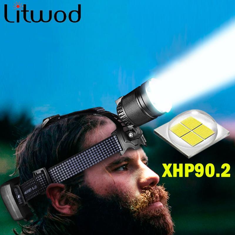La plupart XHP90.2 puissant Led Projecteur intégré de refroidissement Fun Lampe torche phare tête Comping Zoom 18650 Rchargeable Batterie