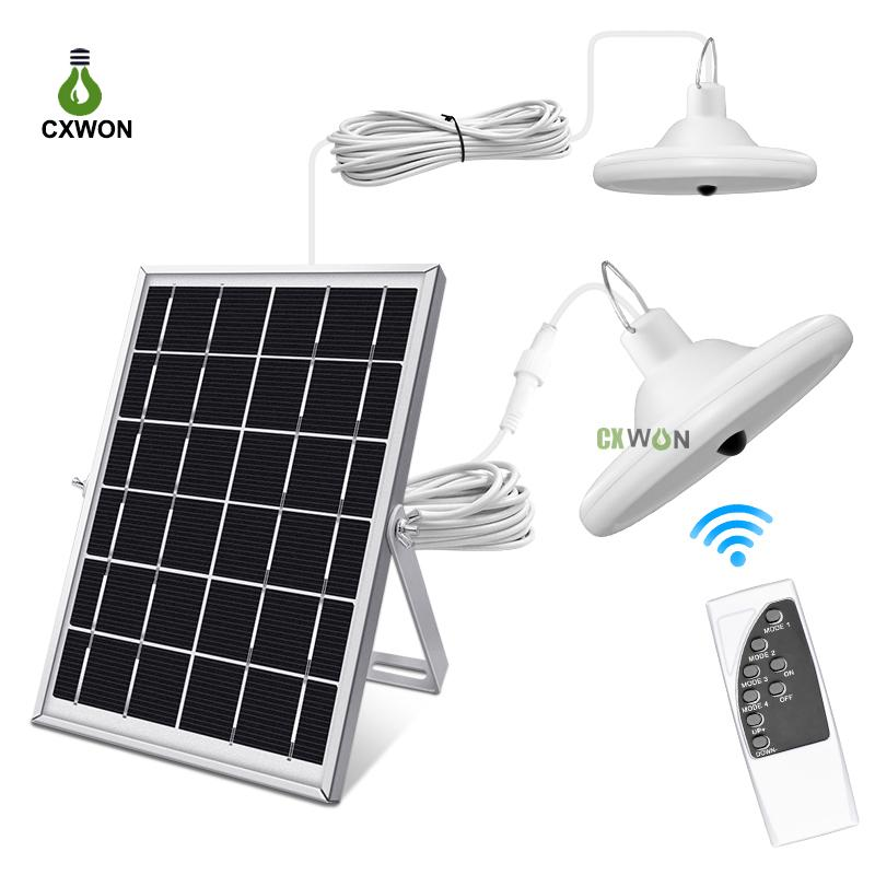 Upgraded 56LEDs Solar Light Bulb 1000LM Waterproof Solar Home Light Outdoor Indoor Solar Shed Light with 5M Cable