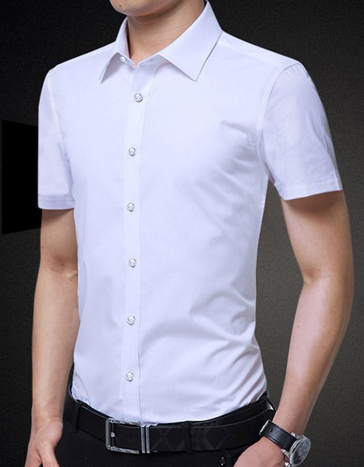venta caliente nuevos mens del verano camisa de manga corta de 2020 nuevos diseñadores de camisetas para hombre de moda juvenil color sólido de negocios informales camisa de manga larga
