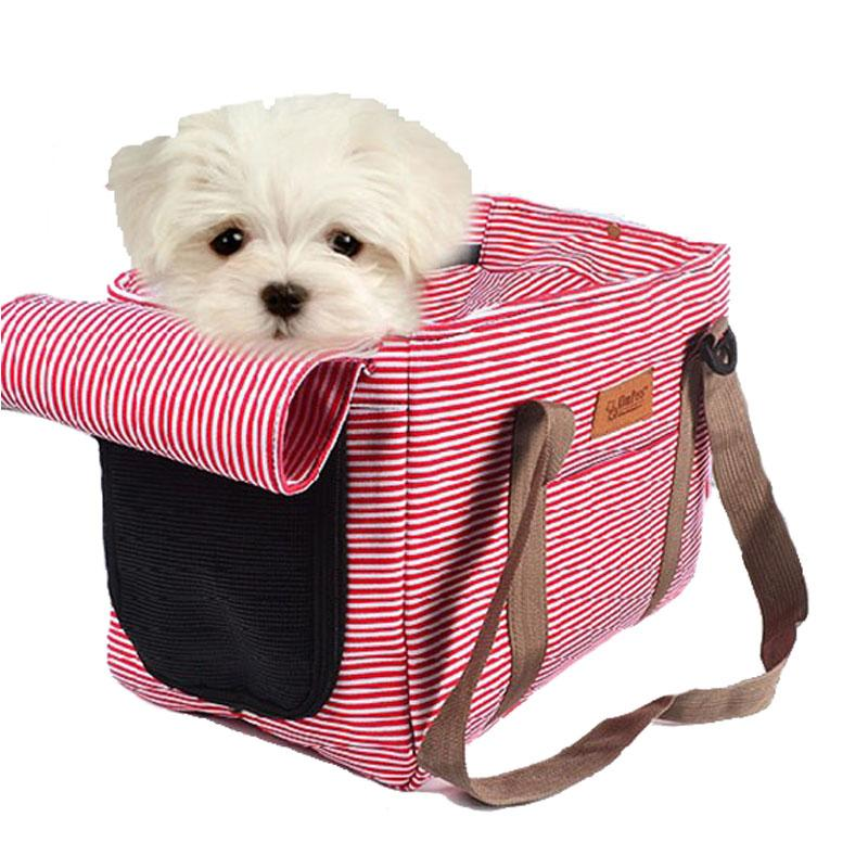 Bolso de perro bolso portador de viaje mascota gato hombro punto portá del bolso acogedor nuevo suministros para mascotas suave cachorro impreso portador de perros aanuc