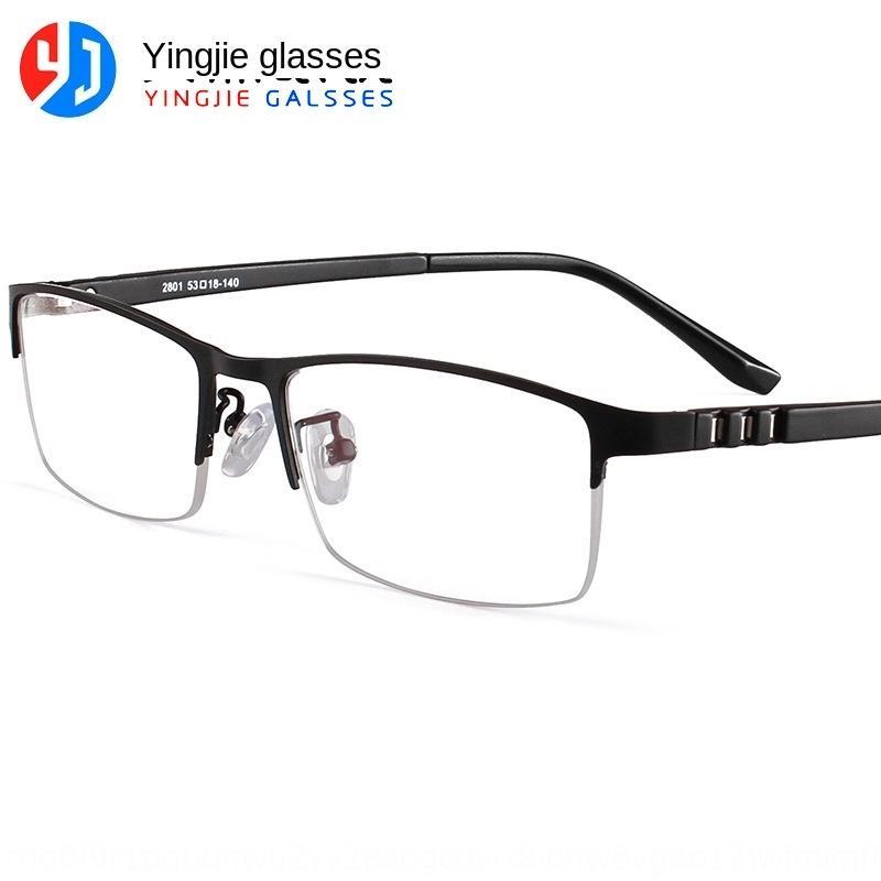 9nzFe Yingjie new metal meia moldura preta meia-imagem dos homens miopia TR90 Miopia acessório óculos acessórios óculos perna
