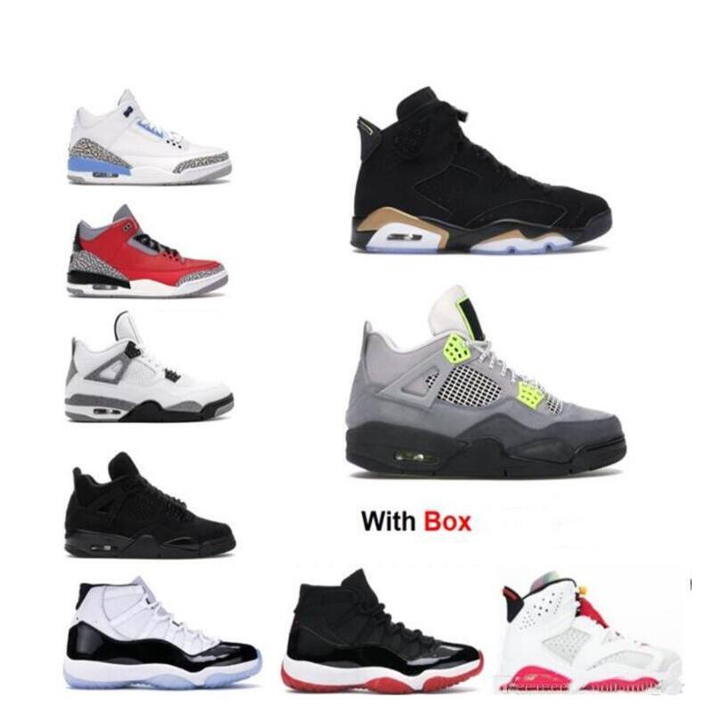 2021 chaussures de basket-ball SE 95 Neon 4 4s Black Cat 6 DMP 11 Concord Bred formateurs sneaker Espace Jame refroidissent 6s gris lièvre