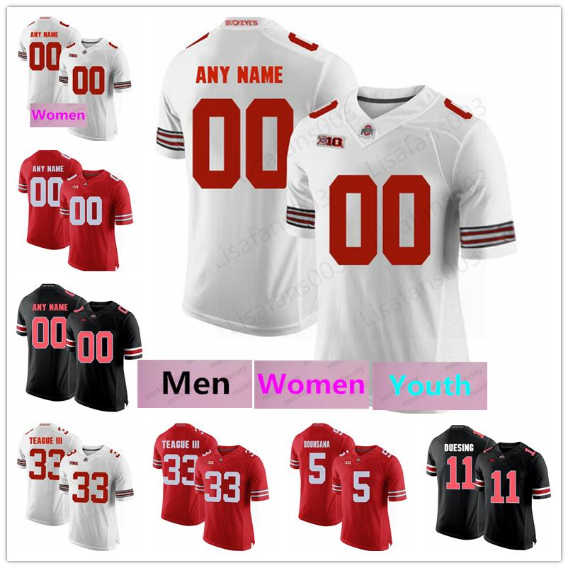 Personalizado, homens, mulheres jovens Ohio State Buckeyes College Football OSU costurado Jersey Eddie George Johnny Utah Ronnie Hickman Archie Griffin