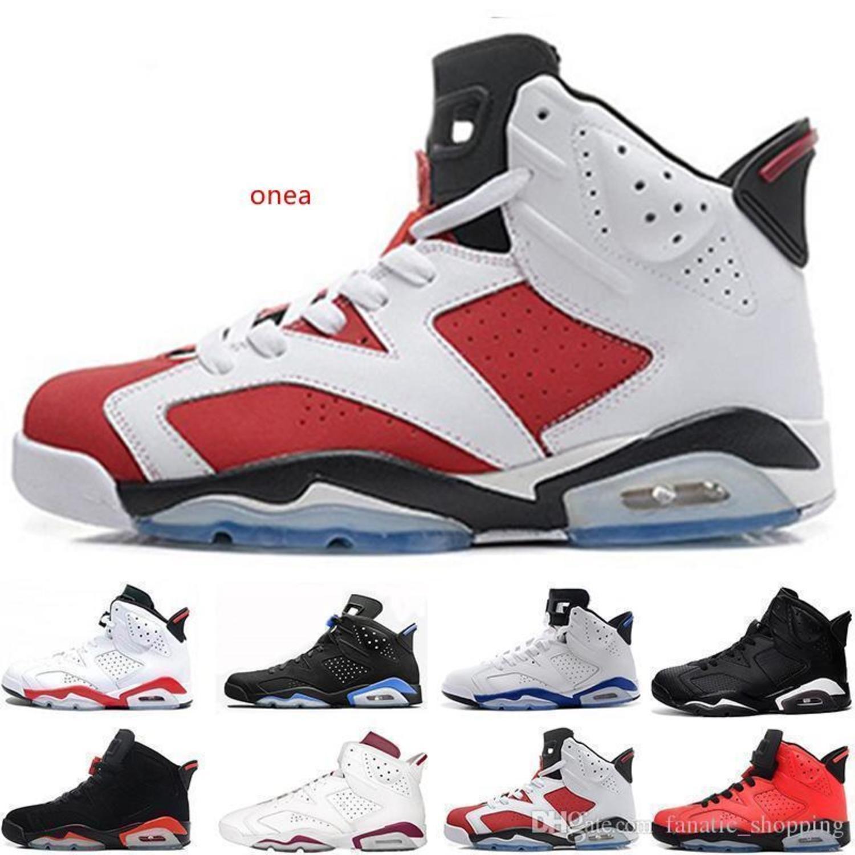 Black Cat barato 6 Shoes Mens Basketball Man Unc infravermelhos Sports azul Maroon Olímpico alternativo Hare Oreo Sports Sneakers Tamanho 41-47