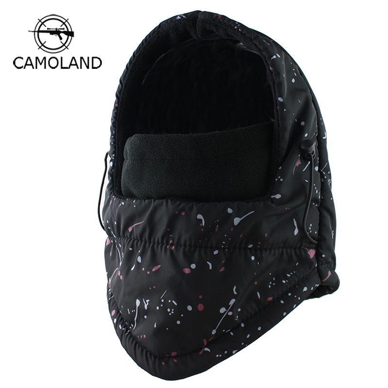Шапочки по прибытии на капюшон зима балаклава для мужчин женщин Thermal Flece Swat лыжный ветер пробка на открытом воздухе шляпа