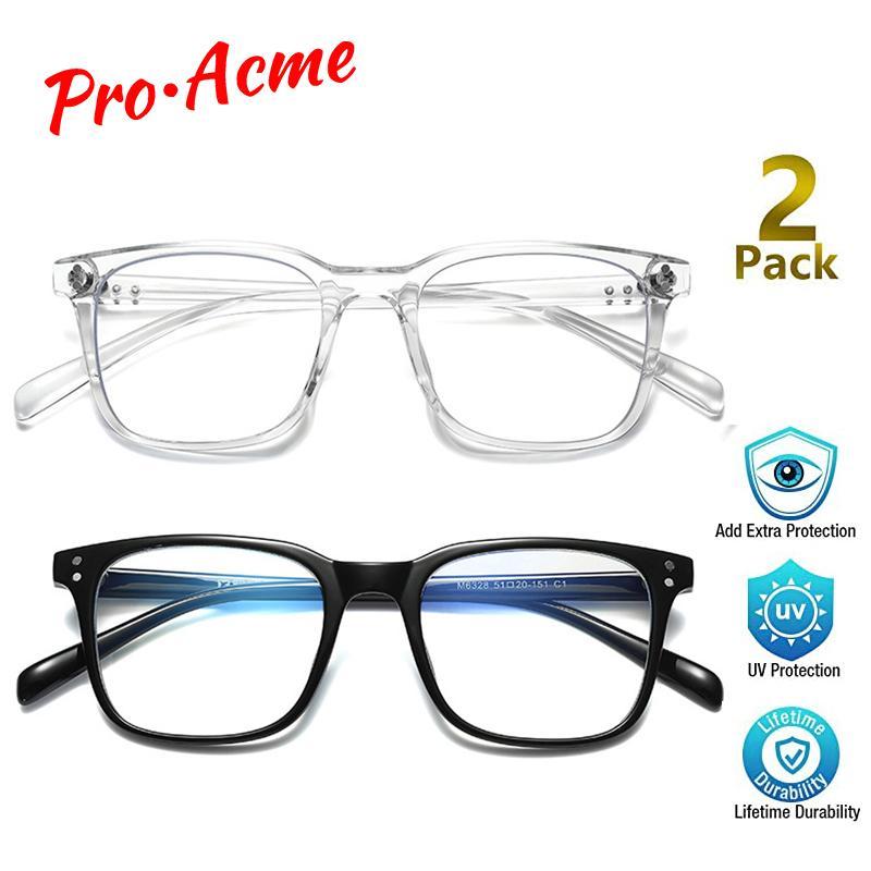 Pro Acme 2-PACK TR90 синий свет Блокировка очки Компьютер для чтения / Gaming / TV / Телефоны Стекла для оптических оправ Женщины Мужчины PC1724C