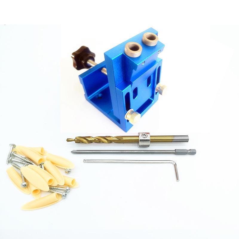 9,0 milímetros de alumínio bolso furo Ferramentas Guia Dowel Jig Carpintaria Marcenaria Ajuste para carpintaria DIY Tools