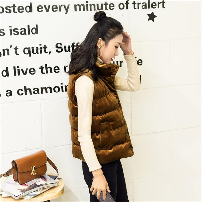 Kısa Coats Casual Tek Breasted Kadın Giyim Pleuche Kadın Vesta Tasarımcı Bahar ve Sonbahar Kolsuz Donna