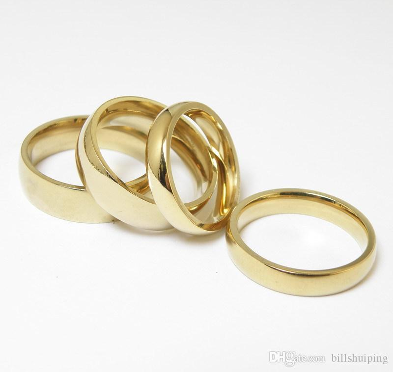 Cgjxs Atacado New 5 0,5 milímetros de aço inoxidável Parafuso amor dedo anelar cores do ouro amantes chapeamento Jewelry frete grátis