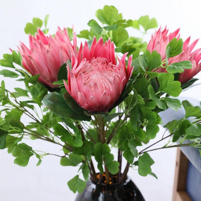 2pcs / Lotes Silk Imperador Flor Artificial Decoração Europeia Flor do casamento do estilo de Home Garden Hotel Decor K71G #