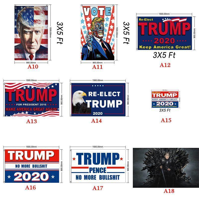 Flag stili 90 * 150cm Biden Bernie Donald 2020 carro armato americano Elezione presidenziale Bandiere Trump a mano