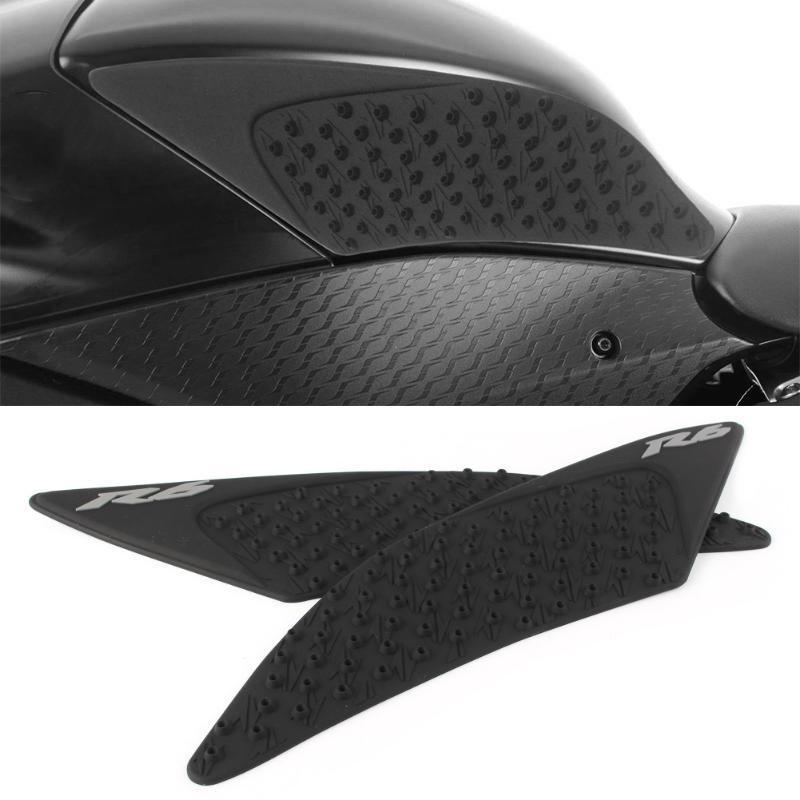 Grip rodilla tanque de la motocicleta de la tracción lateral del cojín de Gas Combustible protector para YZF R6 YZF-R6 2020 2020 Negro / Blanco