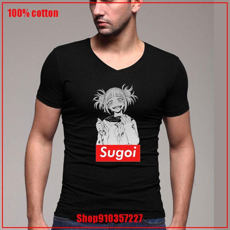 2020 genç adam blou Senpai Waifu Toga Sugoi Boku No Kahraman Academia V yaka Kişiselleştirilmiş Kısa Kollu Adam beden pamuklu t shirt