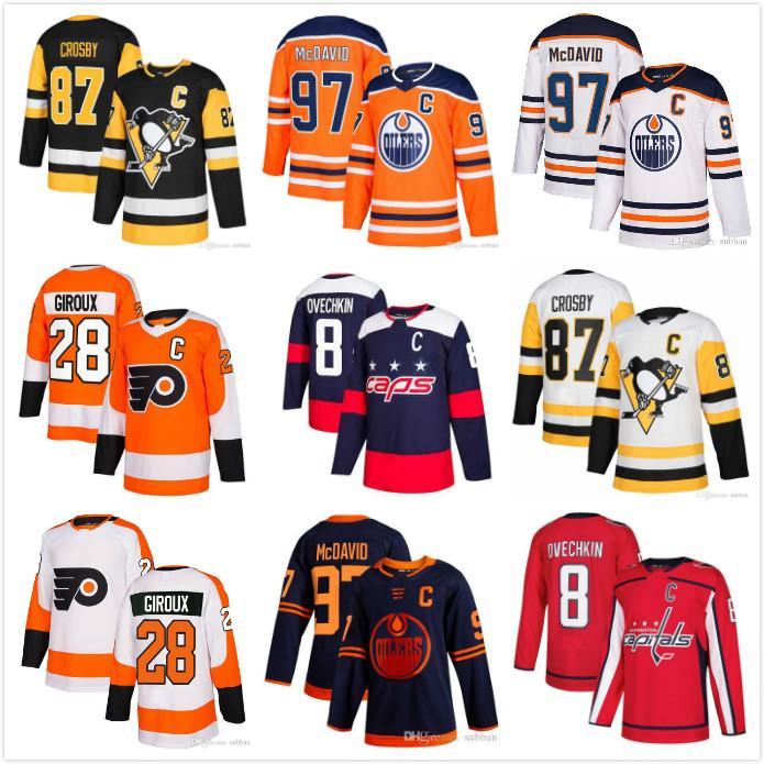 Sidney Crosby Pittsburgh Penguins Connor McDavid Edmonton Oilers Alex Ovechkin Washington Capitais Claude Giroux Philadelphia Flyers Jersey
