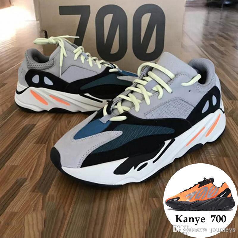 700 Runner 2019 Nuevo Kanye Mauve Wave Hombres Mujeres Atlético Mejor calidad 700s Zapatillas deportivas para correr Zapatillas de diseñador con caja