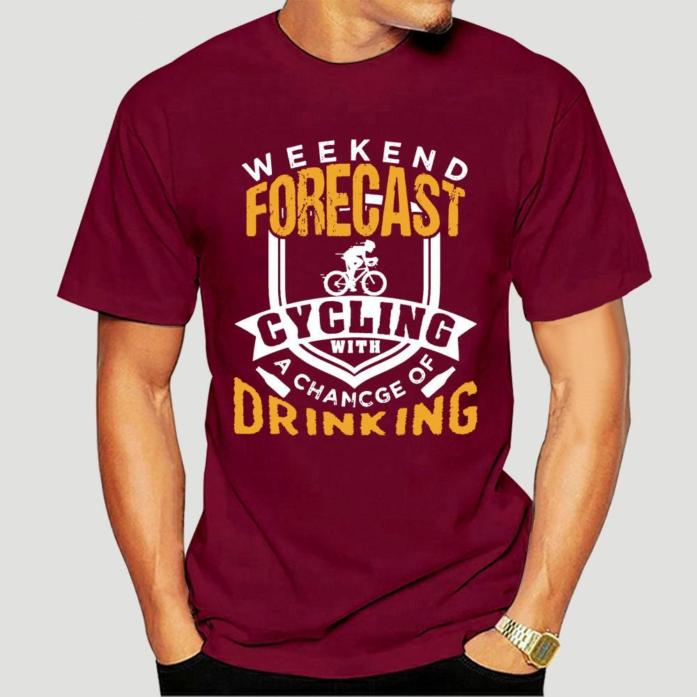 camisa dos homens t-semana Previsão Ciclismo Possibilidade de beber (2) t-shirts Camisa das mulheres T-4004D