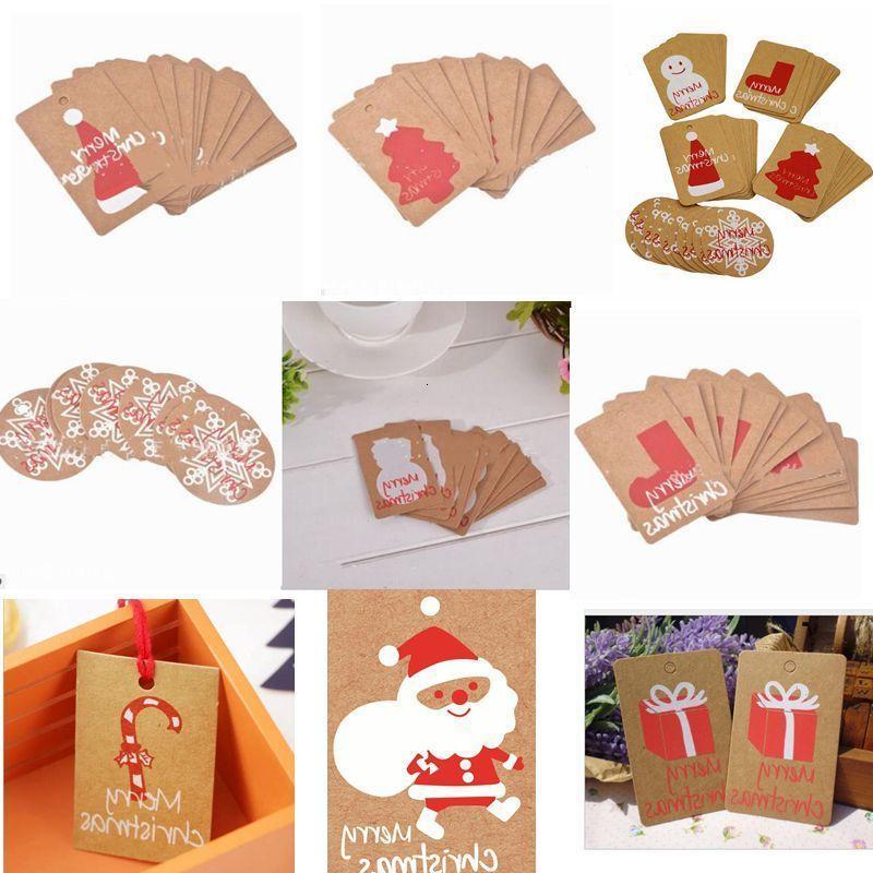 Carte Winter Festival di saluto Happy regalo Cappello da Babbo Natale Rosso Scheda di festa inviti Decor Albero di Natale del fiocco di neve Ahc904 Xmu9