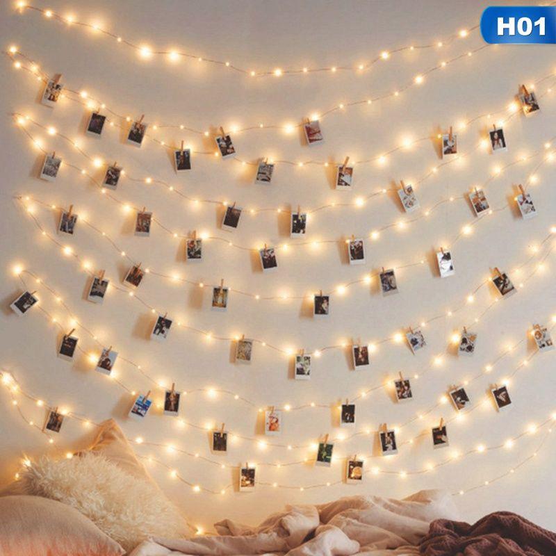 Luce leggiadramente LED 2/3/5 / 10M stringa solare Catena luce Garland filo di rame del cortile all'aperto decorazione di Halloween di Natale