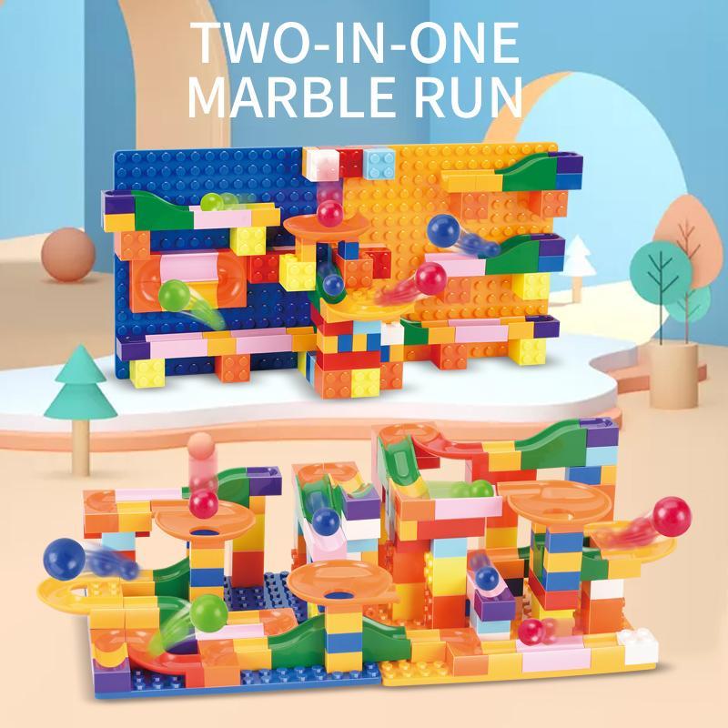 Mini Größe Trichter Slide Building Blocks Marble Rennen Run Spur Maze Ball Building Blocks Set zusammenbauen Bricks Kinder Spielzeug