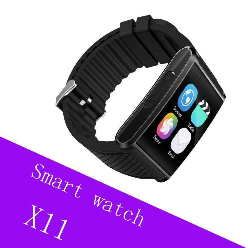 Play Маркета X11 Android Смарт Watchs телефон Мобильный Mtk6580 Quad -CORE с Sim-карты WCDMA камеры Bluetooth Шагомер GPS WiFi Bluetooth Google