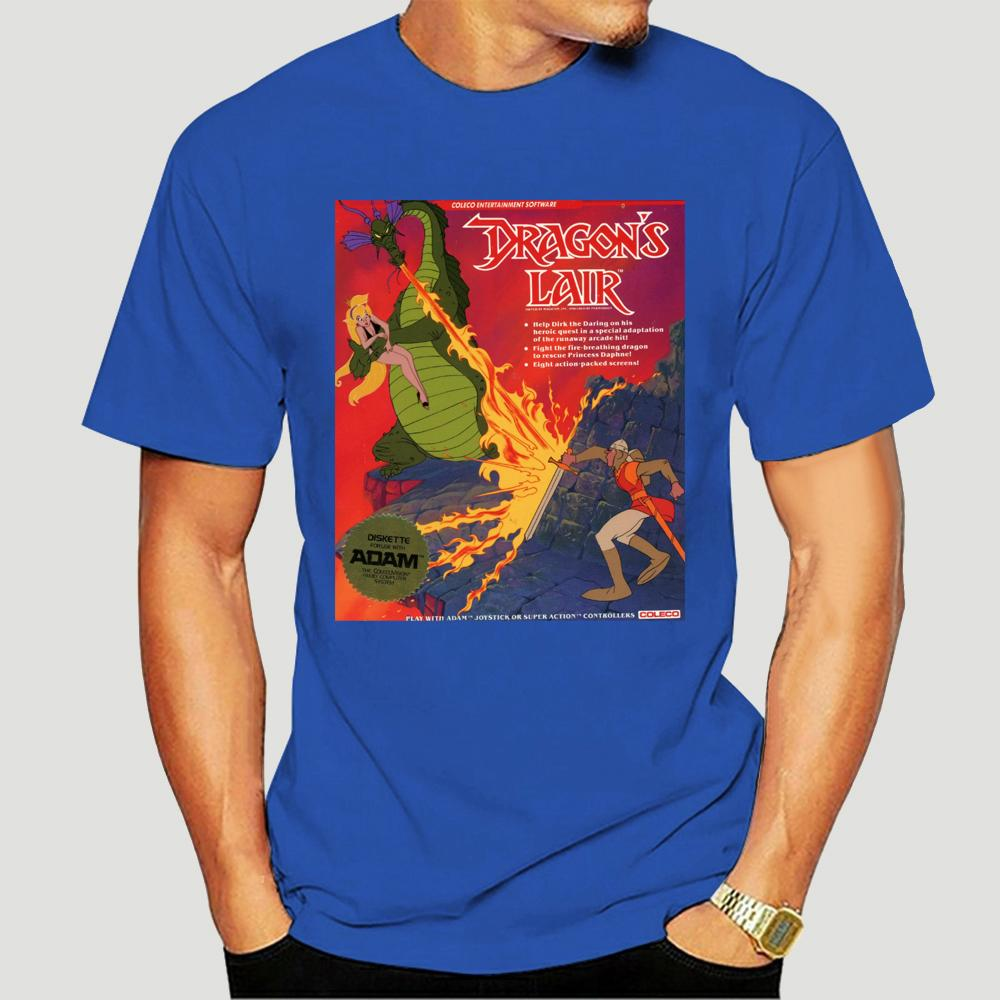 Dragons Lair-T-Shirt Don Bluth Videospiel Laserdisc 1983 Nes Commodore 64-4853D