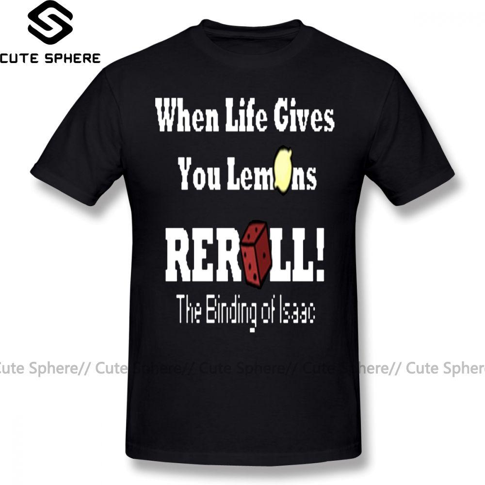 Die Bindung von Isaac-T-Shirt Der Bindung von Isaac Reroll T-Shirt Aufmaß Short Sleeve T-Shirt aus 100 Prozent Baumwolle lustigen T-Shirt