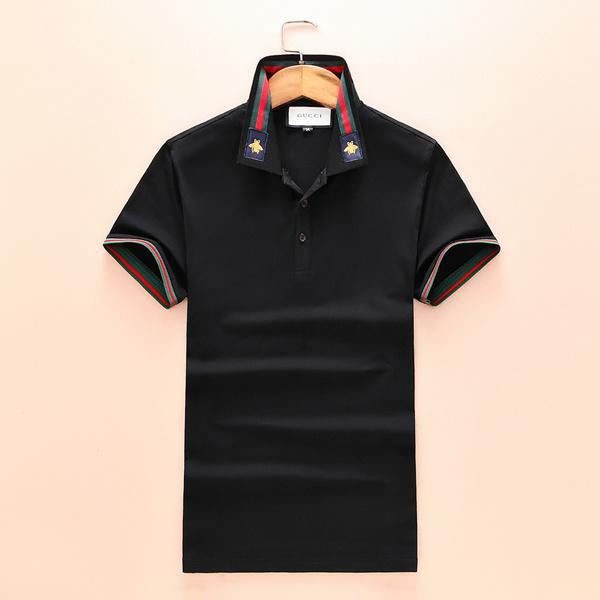 2020 оптовых люди старшего дизайнера хлопок рубашка поло высоких уличная мода пчелка печать поло мужчин desginer марка рубашка поло