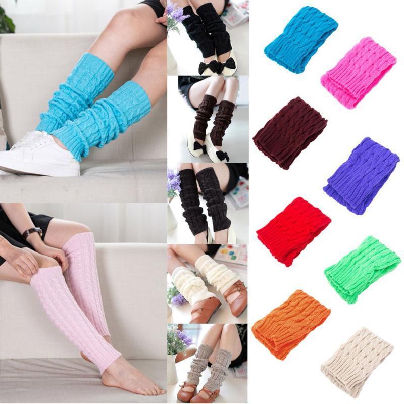 Women Winter Warm Knitted Crochet Long Socks High Knee Socks