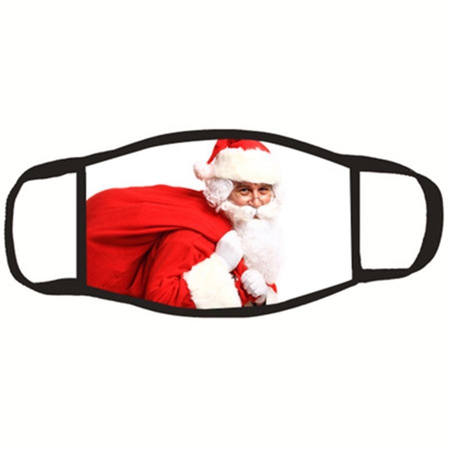 Emballage de détail du Père Noël Masque Protection anti-poussière lavable réutilisable Kpop confortable en gros coton noir Mascherine En # 992