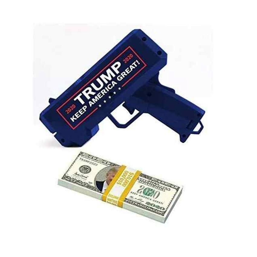 Дональд Трамп Деньги Gun Keep America Great 2020 Trump Printed президент США Деньги пушек с Trump Dollar Bill Party Favor ZZA2202 240PcsN