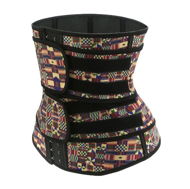 Vente Hot latex taille formateur africaine Imprimer Sauna Ceintures Sweat Corset Minceur Ceinturon Cincher amincissants taille Tummy Shaper DHL gratuit