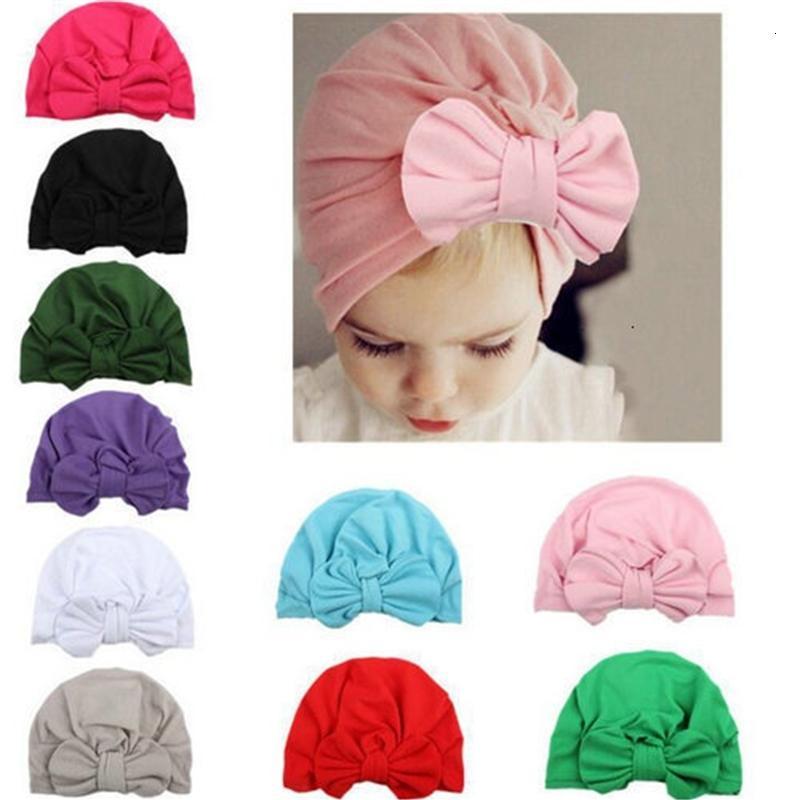 Copertura Cappelli unisex Cute Baby seta morbida con grandi fiocchi autunno inverno caldo Kid cappello della protezione Newborn colori misti