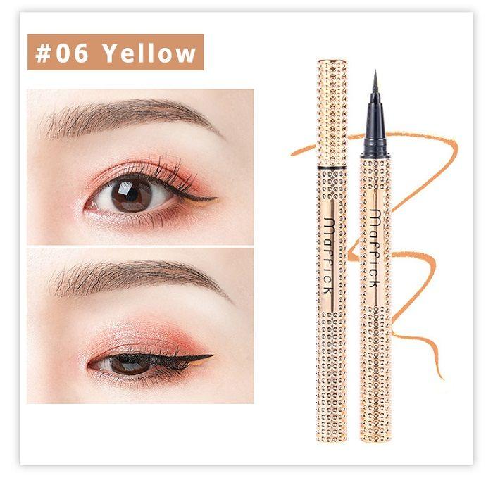 Douce et belle de rendu des couleurs Svelte Europe et en Amérique 6 couleurs de longue durée maquillage imperméable eyeliner Eyeliner Pen pour le débutant