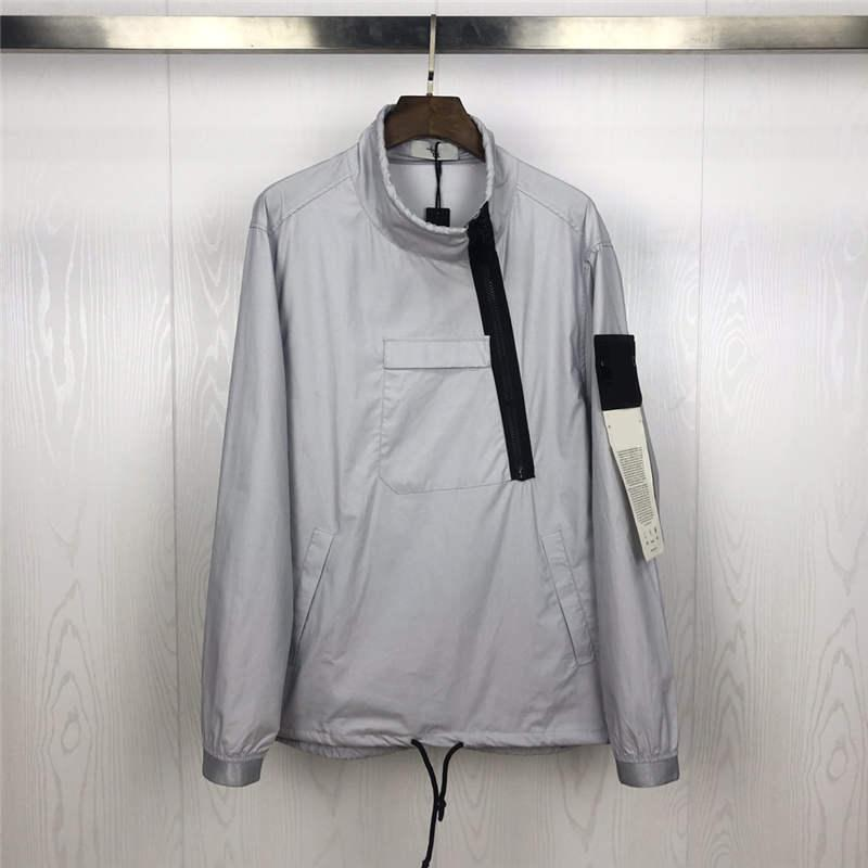 Veste Homme Antumn Veste d'hiver pour hommes, femmes Hauts manches longues Badge avec la mode Tilt Zipper coupe-vent Taille asiatique