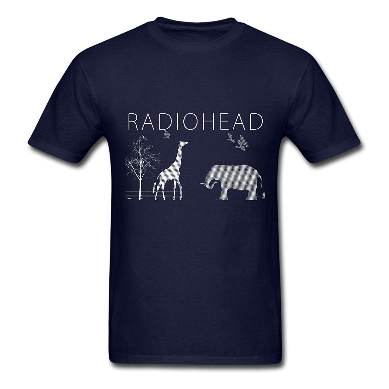 Марка T-Shirt Мужчины 2020 Мода вокруг шеи TY Radiohead Elephant Andgiraffe Футболка для мужчин NavySummer T-Shirt
