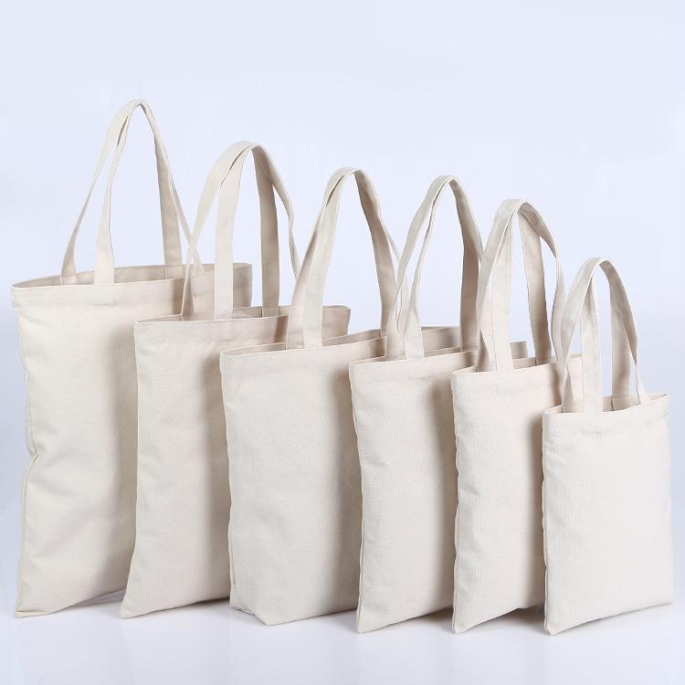 5 unids bolsa de lona de algodón bolsa de asas de lona de lona reutilizable bolsas de compra bolsas de asas de comestibles bolsos de algodón bolsos de tela de algodón mujeres Logotipo de encargo