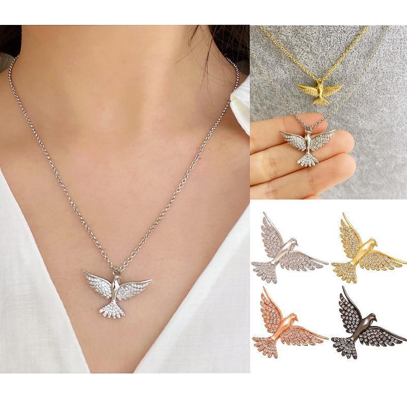 Hecheng CZ colar de águia de ouro atacado colar de animais de cor prata cobre legal moda para as mulheres do presente da festa VD660