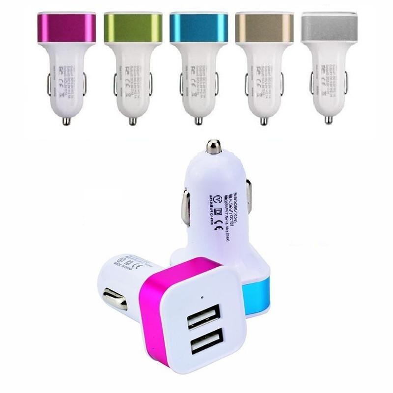 삼성의 MP3 MP4를위한 아이폰 4 5 6 7 차 충전기 듀얼 USB 포트는 2.1A + 1A 차량용 충전기 어댑터