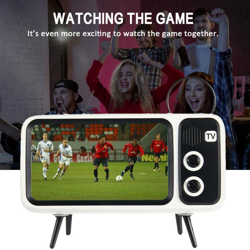 Ретро 90х Bluetooth Speaker TV Дизайн держатель мобильного телефона FM-радио Портативный мини водонепроницаемый Bluetooth спикер