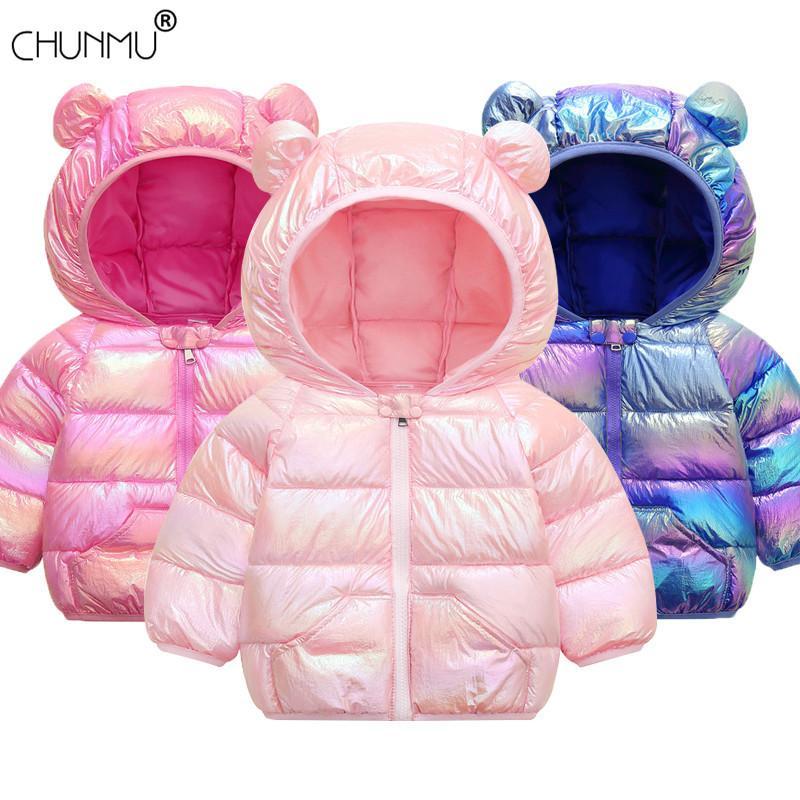 Bebés Meninas Jacket 2020 Jacket Outono Inverno Para Meninas Brasão Crianças Quente Casacos com capuz infantil Roupa infantil Meninas Brasão