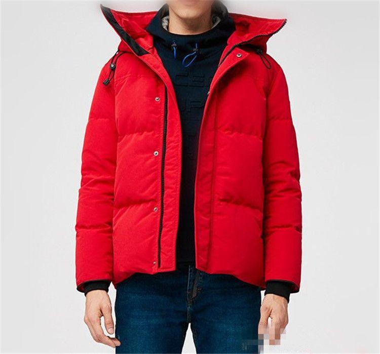 Kış Erkek Aşağı Ceket Parka Su Geçirmez Giyim Hiçbir Kurt Kürk Yaka Orta ila Kalın Stil Aşağı Ceketler Ceket Hiver Parkas Doutoune