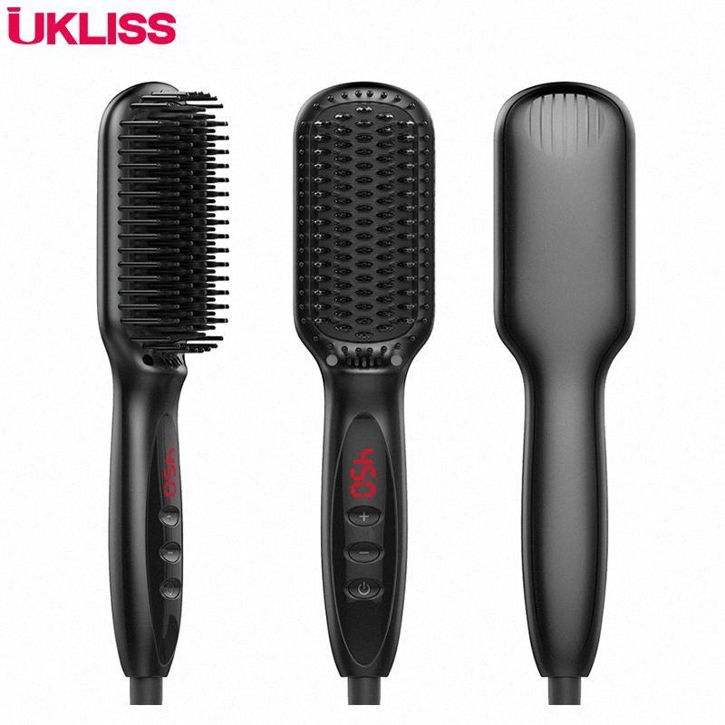 Nueva plancha de pelo de iones negativos recta peine férula recta herramientas de pelo tirón para el envío libre # uYJH