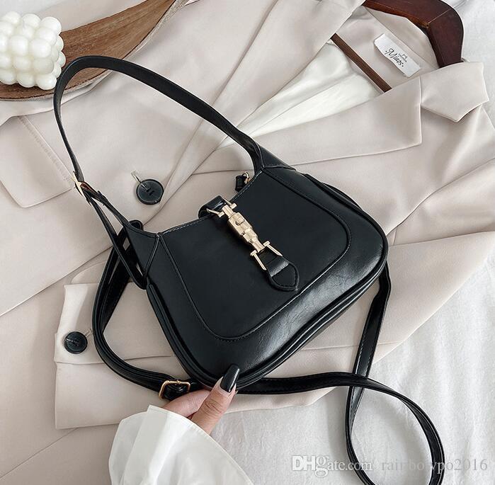 Sac bandoulière en cuir simple, rétro atmosphère des femmes de vente d'usine personnalité boucle femmes sac de messager nouveau sac de mode bleu